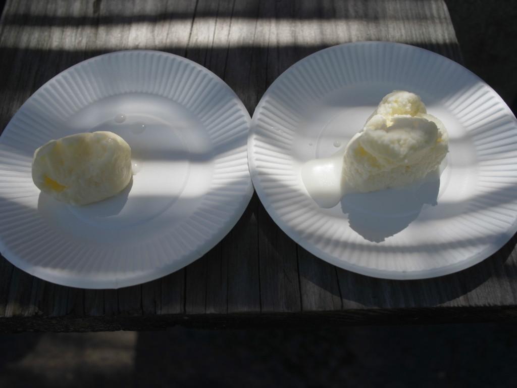 バター作り体験完成